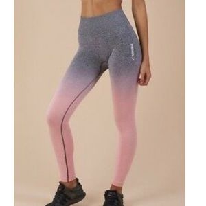 Gymshark pink/grey ombré leggings